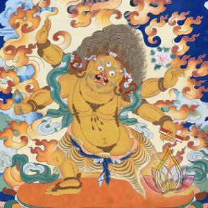 寶生百法之救獅子難觀自在彩唐