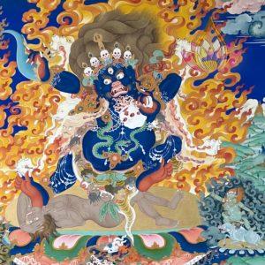 內閻摩法王巨幅彩唐